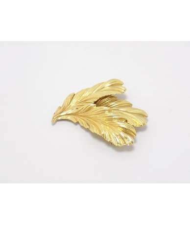 Sárga arany levél formájú kitűző