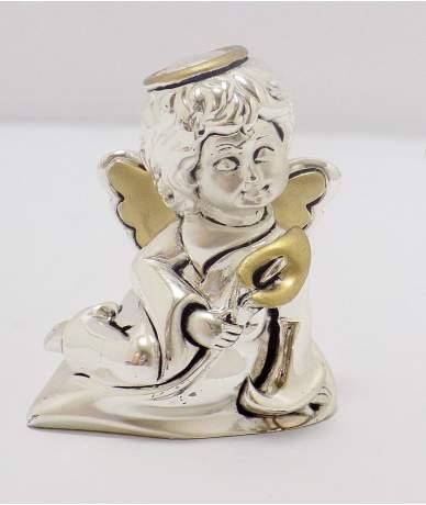 Ezüstözött angyalka figura