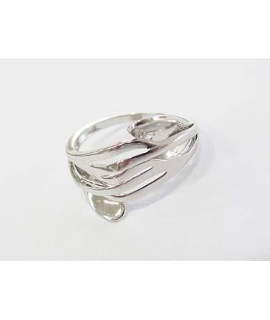 Fehér arany, áttört gyűrű