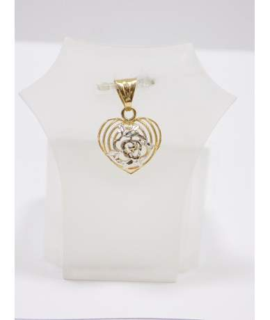 Szív alakú sárga arany medál