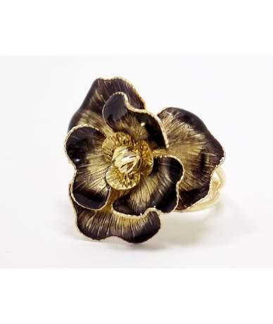 Egyedi, virágos arany gyűrű
