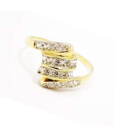 Sárga arany köves gyűrű