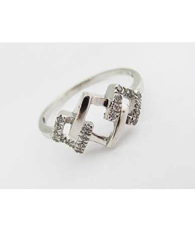 Áttört fehér arany gyűrű