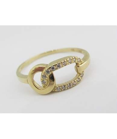 Áttört sárga arany gyűrű