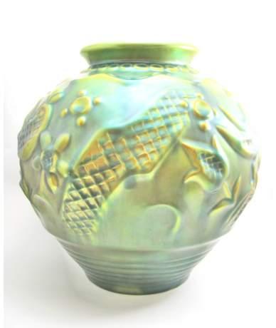 Zsolnay porcelán eozinos váza