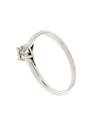 Brill köves női fehérarany gyűrű