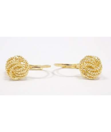Arany kő nélküli fülbevaló