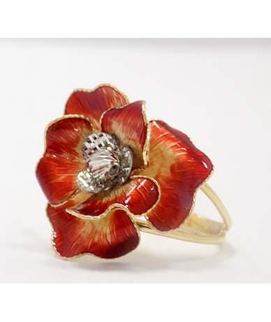 Arany virágos mutatós gyűrű