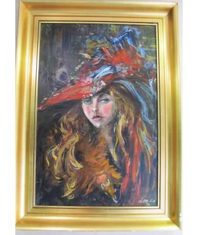 Séday Éva: Kalapos hölgy