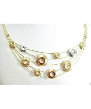 Többszínű női arany nyakék