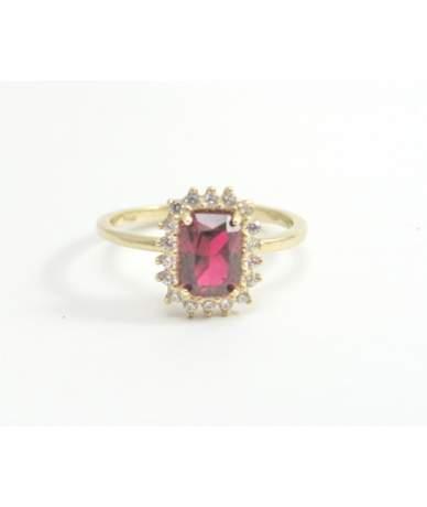 Női színes köves arany gyűrű