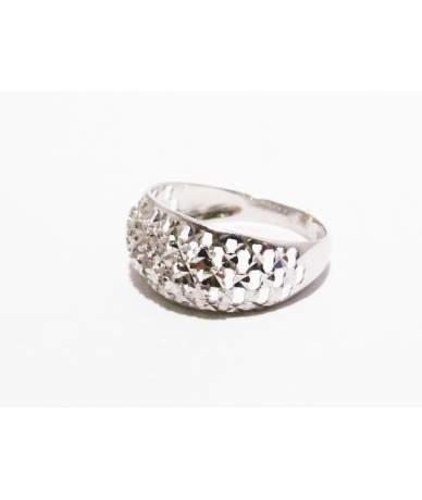 Fehér arany női gyűrű