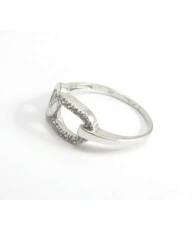 Fehérarany női köves gyűrű