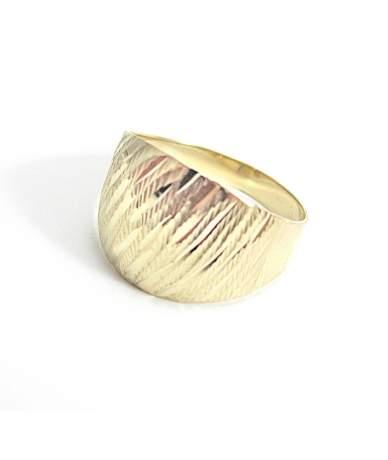 Mutatós női arany gyűrű