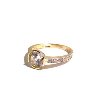 Arany gyűrű köves szoliter