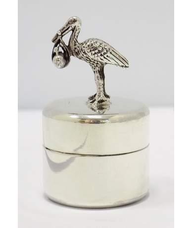 Ezüst gólyás fogtartó