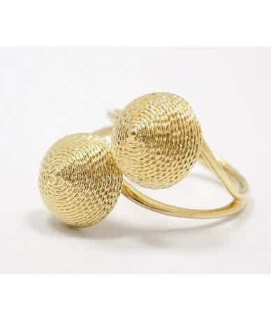 Sárga arany kő nélküli gyűrű