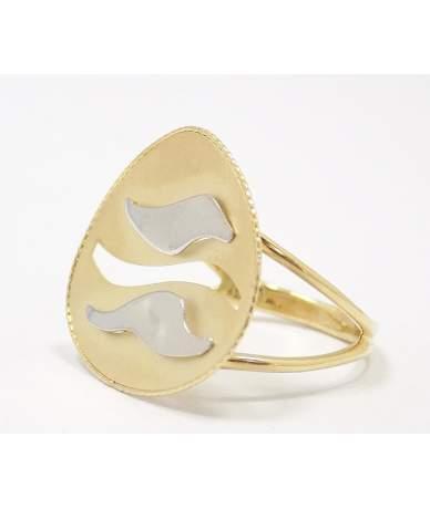Áttört kialakítású arany gyűrű