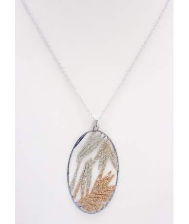 Rozé ezüst modern lánc medállal