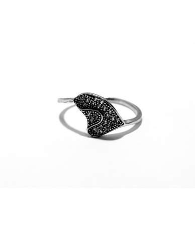 Ezüst női köves gyűrű
