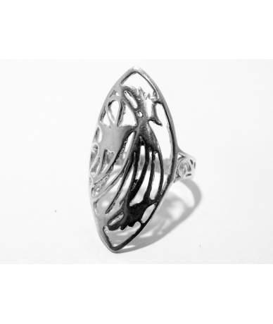 Ezüst női gyűrű nyújtott