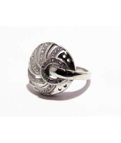 Ezüst női gyűrű áttört ,köves fejrésszel