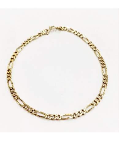 Gelbgold Figaro-Armband