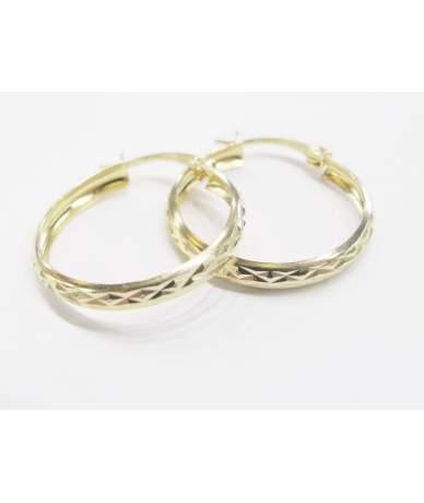Gravierten Gold Ohrringe