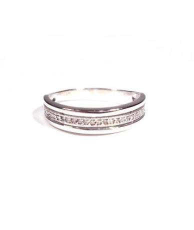 Fehérarany köves női gyűrű