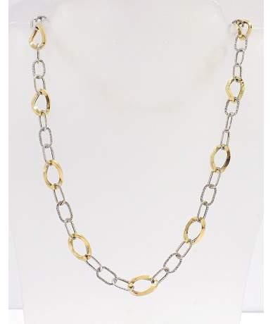Kétszínű arany anker lánc