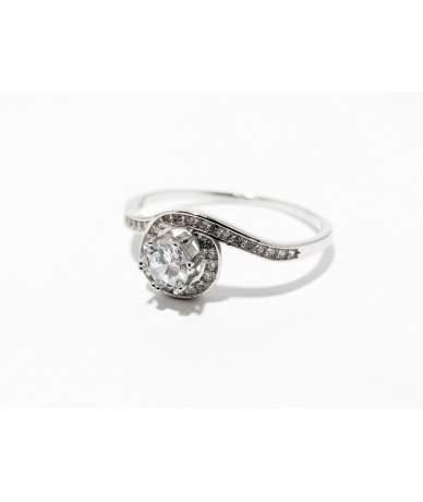 Ezüst női eljegyzési gyűrű