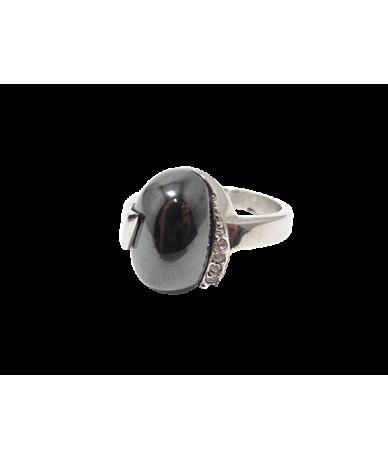 Nemesacél női köves gyűrű