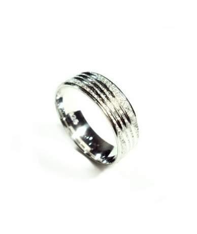 Férfi ezüst karikagyűrű