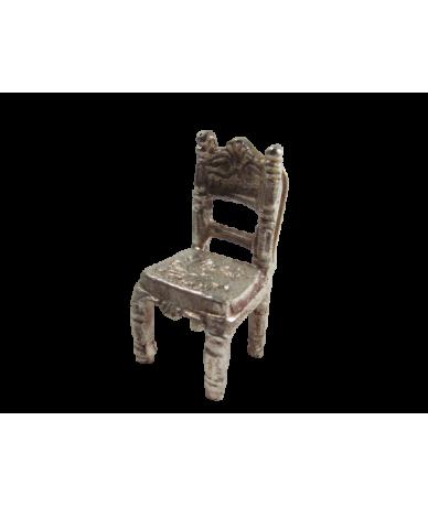 Ezüstözött dísz kis szék