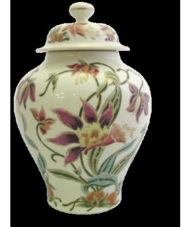 Zsolnay porcelán fedeles váza