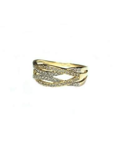 Sárga arany köves gyűrű.
