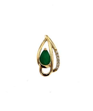 Smaragd és brill köves gyűrű