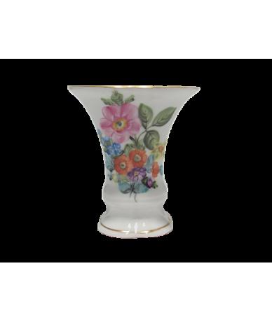 Herendi porcelán virágos kis váza.
