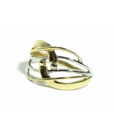 Kétszínű kő nélküli gyűrű