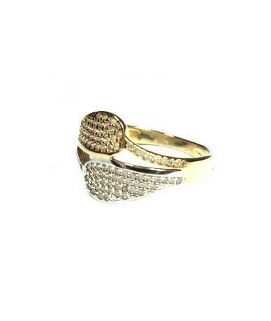 Többszínű arany köves gyűrű