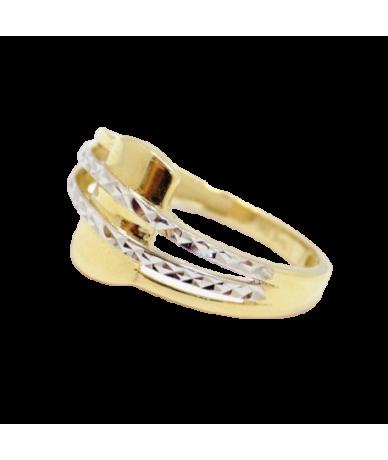 Kétszínű arany gyűrű