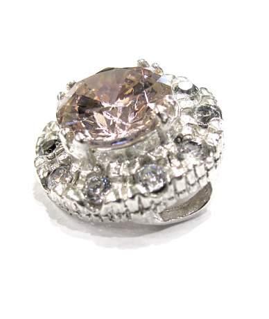 Dekoratív köves ezüst medál