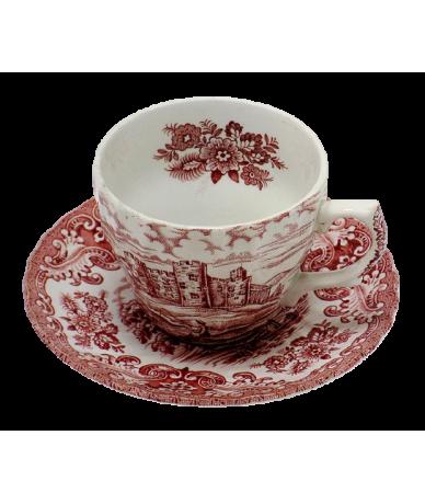 Angol porcelán csésze+ alj