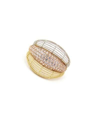 Három színű arany gyűrű