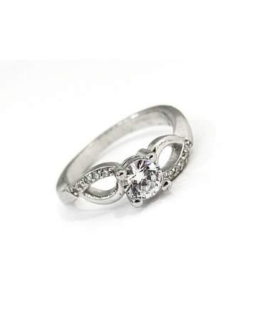 Ródiumozott ezüst gyűrű