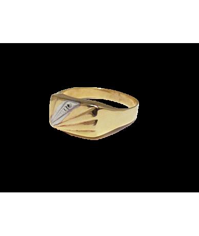 Sárga arany férfi pecsét gyűrű