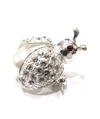 Ezüst, katicabogár kitűző
