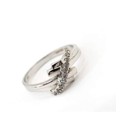 Ródiumozott fehér arany gyűrű