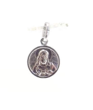 Jézus szíve ezüst medál