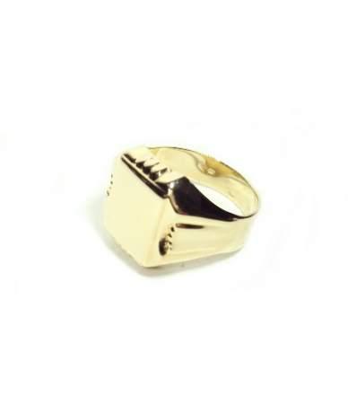 Sárga arany pecsét gyűrű